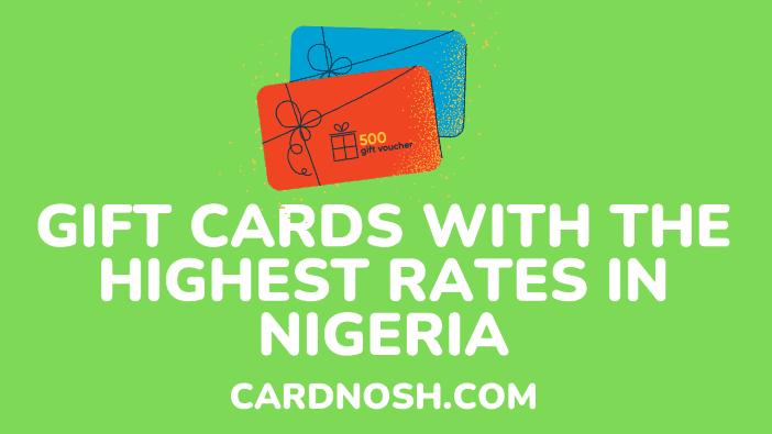 best gift card rates - cardnosh